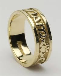 anam cara symbol wedding ring set 2