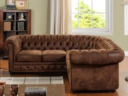 canape chesterfield d angle velours t one co