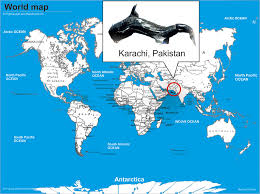 map of karachi location karachi pakistan world map