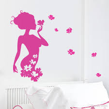 diy pretty flower fairy vinyl wall stickers girls bedroom home diy pretty flower fairy vinyl wall stickers girls bedroom home decor decals room decor wall stickers girls wall stickers decorative wall decals online with