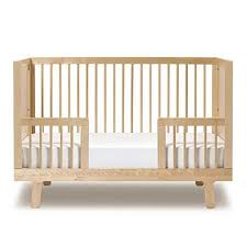 Bed Crib Sparrow Crib Toddler Bed Conversion Kit In Birch And Luxury Baby