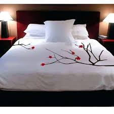 shanickers cherry blossoms handpainted duvet cover by