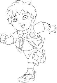 pictures diego running coloring pages diego coloring pages