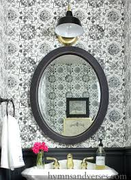 black and white tile wallpaper powder room hymns and verses