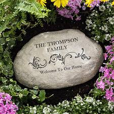 personalized garden stones our family