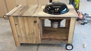 how to build a weber grill table pallet wood weber grill table project on a budget page 1 homes