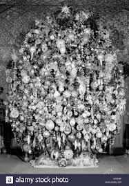 decorated christmas tree black and white stock photos u0026 images alamy
