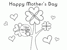 flowers tree for mother u0027s day coloring page for kids coloring