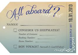cruise wedding invitations great heights wedding all aboard