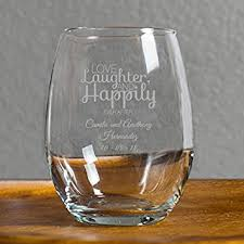 wedding favor glasses 72 pack personalized engraved laughter and