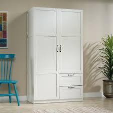 wardrobe storage cabinet white sauder select wardrobe storage cabinet 420495 sauder