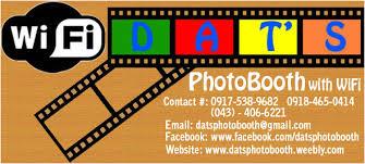 Photo Booth Rental Prices Dat U0027s Photobooth With Wi Fi Batangas City Tanauan Malvar Santo