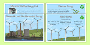 renewable and non renewable energy information posters
