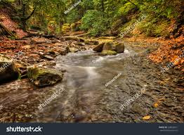 sulpher springs creek ohio peak stock photo 228655471