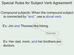 subject verb agreement the basic idea u2026 the number of the subject