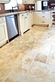 tiled kitchen floors ideas kitchen modern design ideas using l shaped white wooden cabinets