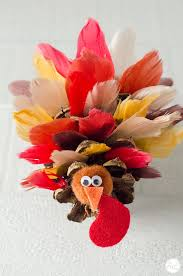 how to make pinecone turkeys with feathers live craft eat