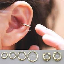 gold cartilage earrings 14k gold cartilage hoop earring earring cartilage hoop helix