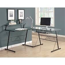 office depot l shaped glass desk monarch specialties l shaped computer desk 30 h x 58 w x 58 d