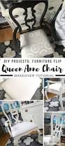 diy projects queen anne chair gets a shabby chic makeover arts