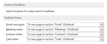 default template for outlook items sent to onenote msoutlook info