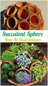 Diy Garden Ideas Diy Flower Clay Pot Succulent Sphere Diy Indoor