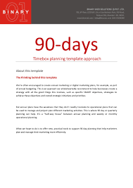 goals planner template 90 day planning template approach