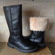 womens ugg boots size 9 ugg australia black leather fur boots womens size 9 ebay