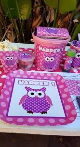 personalized party supplies 1st birthday owl party supplies