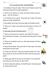 multiplication u0026division word problems for year 2 by clara5