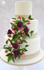 Wedding Cake Gum Fuchsias In Bloom Wedding Cake Cakecentral Com
