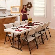 amazon com lifetime 80175 fold in half banquet table 8 feet