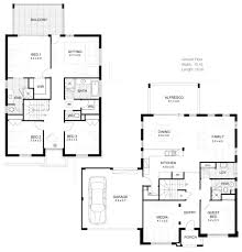 Floor Plan Two Storey House House Plans Double Story Australia Homes Zone