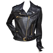 brown motorcycle jacket versace motorcycle biker leather jacket new 42 at 1stdibs