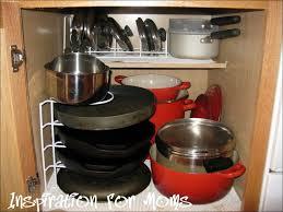 kitchen room under cabinet sliding pot rack pot pan holder
