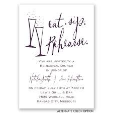rehearsal dinner invitations eat sip rehearse mini rehearsal dinner invitation invitations