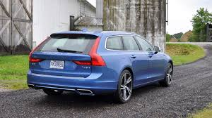 blue volvo station wagon 2017 volvo v90 t6 awd r design polestar optimized first drive review