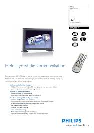 download free pdf for philips bdl3221v tv manual