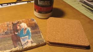 photo image transfer to tile liquitex craft tutorial youtube