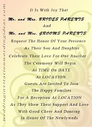 wedding invitation sle wording wedding invitation wording exles and groom inviting
