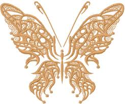 fantastic butterfly clown free machine embroidery design