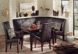 Sweet Modern Kitchen Booth With Soft Brown Leather Seats And Pink