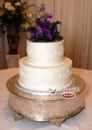 love this two tier buttercream with simple scrolls cake