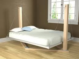 wooden oak bedstead of suspended bed furniture with two poles and