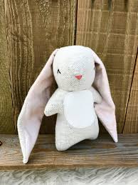 monogrammed bunny stuffed animals plushies kids toys personalized gift