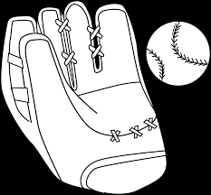 baseball mitt and ball coloring page free clip art
