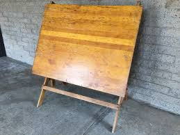 Drafting Table Wooden Vintage Wooden Adjustable Drafting Table Excellent For Use Or Display