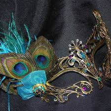 peacock masquerade masks best turquoise masquerade mask products on wanelo