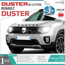 renault duster 2017 black duster 3d letters for renault duster black amazon in car