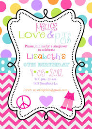 pajama party invitations free printable home party ideas